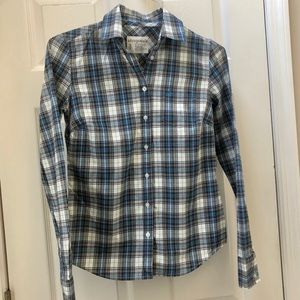 Aeropostale Plaid Long Sleeve Button Down Shirt S